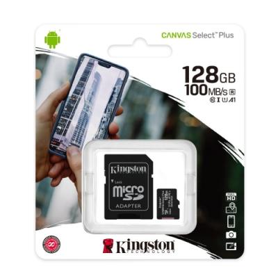 [時時樂限定]金士頓 KINGSTON SDCS2 MicroSDXC 100MB 128G U1 A1 記憶卡