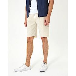 CACO-質感棉麻素短褲(兩色)-男【SAR057】