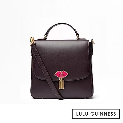LULU GUINNESS ELEANOR 側背包 (茄紫)