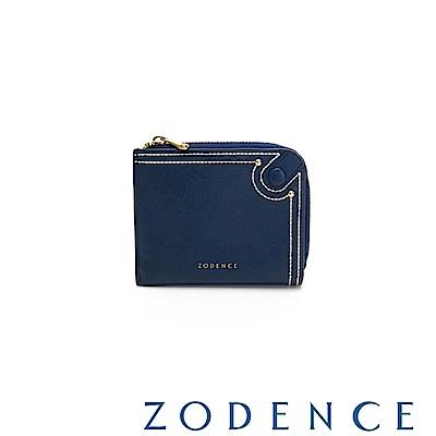 (網路限定)ZODENCE 35周年限定進口牛皮零錢包 深藍