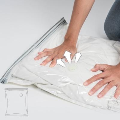 樂嫚妮 3入新一代免抽氣手壓真空收納壓縮袋/防塵袋-45X70cm