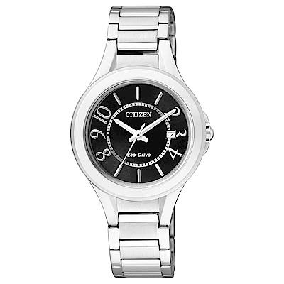 CITIZEN星辰  經典光動能腕錶(FE1020-53E)-黑色/30mm