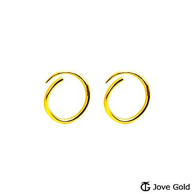 Jove gold 女神黃金耳環-小