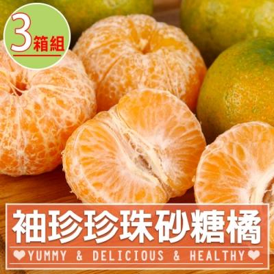 【愛上鮮果】袖珍珍珠砂糖橘3箱(3斤±5%/箱)