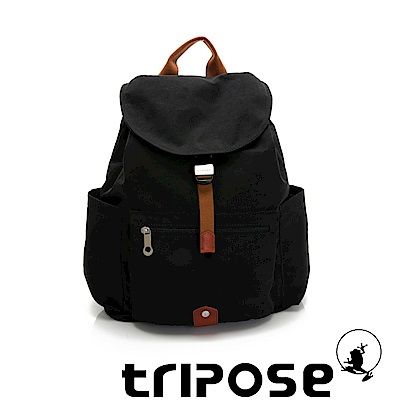 tripose MEMENTO系列微皺尼龍經典輕量後背包(大)潮感黑