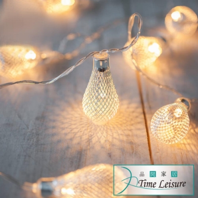 Time Leisure 鐵藝LED派對佈置/耶誕聖誕燈飾燈串(燈泡/暖白/2M)