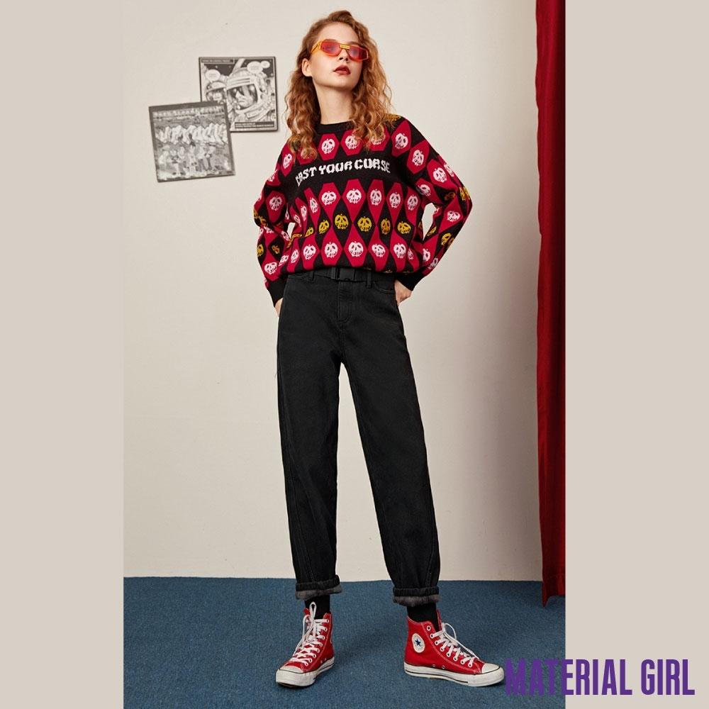 MATERIAL GIRL 南瓜菱格紋迪士尼反派針織衫【20冬季款】-61189