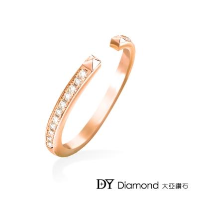 DY Diamond 大亞鑽石 L.Y.A輕珠寶 18K玫瑰金 時尚 鑽石線戒