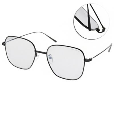 PAUL HUEMAN太陽眼鏡 韓系金屬質感鏡框款/黑-淺白水銀 # PHS918A 05
