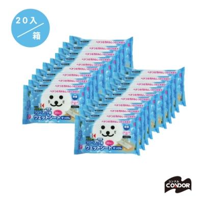 日本山崎 小海豹 地板清潔除菌用濕拖巾 20入/箱購