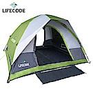 LIFECODE《立可搭》豪華雙門5-6人雙層速搭帳篷-高183cm (綠色)