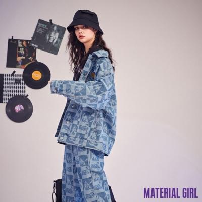 MATERIAL GIRL 搖滾滿版棋盤格印花牛仔外套【21春季款】-B13045