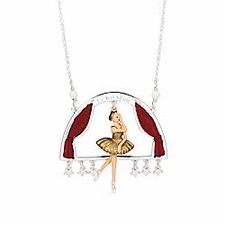 Les Nereides N2 優雅芭蕾舞女孩系列 金色天鵝湖 舞會舞台焦點 長項鍊