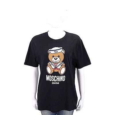 MOSCHINO Swim 水手泰迪熊寶寶黑色寬版棉質T恤