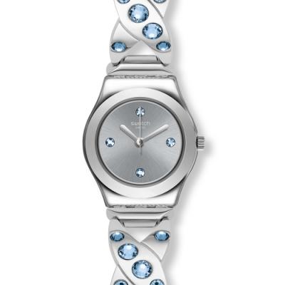 Swatch 金屬系列手錶 SILVER HUG-25mm