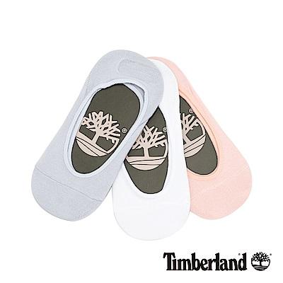 Timberland 女款藍粉白三件組隱形襪|A1EB1