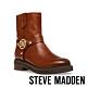STEVE MADDEN-MOTTAR 品牌LOGO鉚釘造型短靴-咖啡色 product thumbnail 1