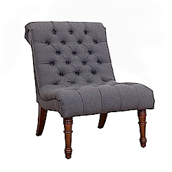 Bernice-亞爵美式復古風布沙發單人座椅(灰色)