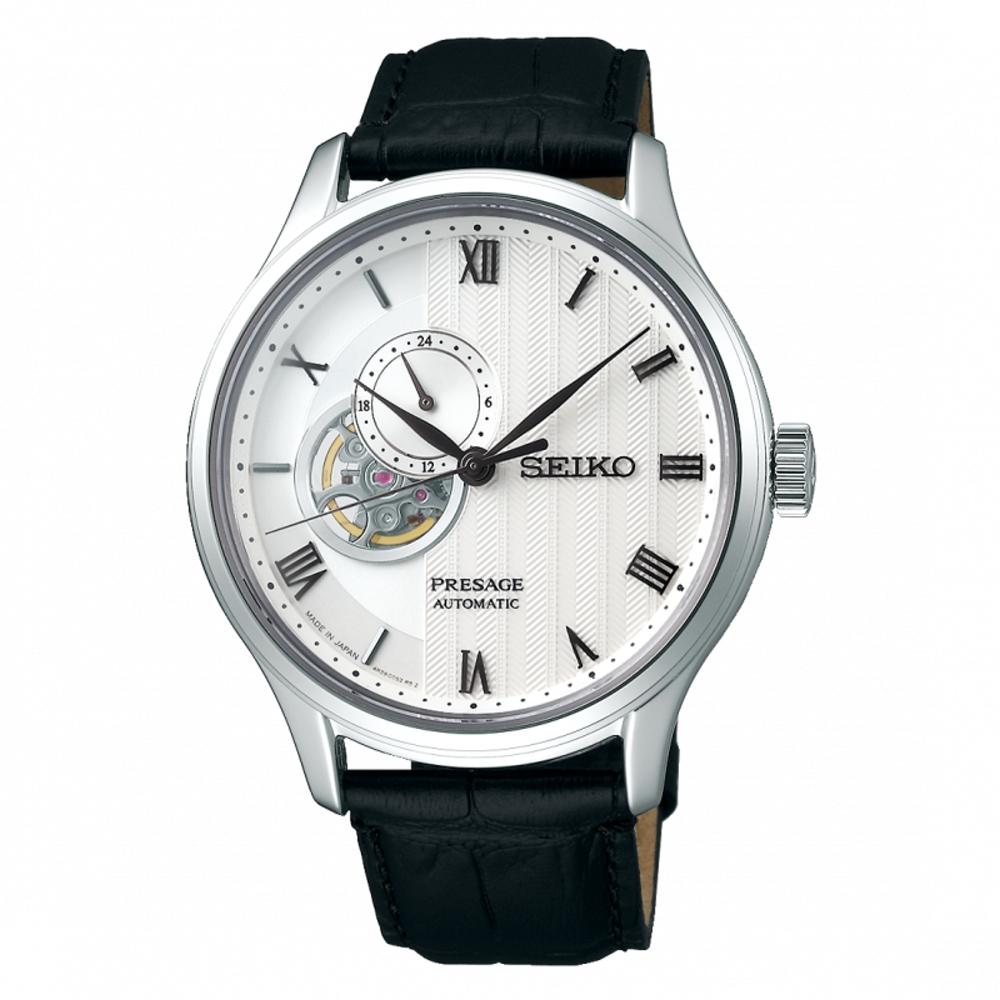 SEIKO Presage質感品味鏤空設計機械錶4R39-00W0P/SSA379J1
