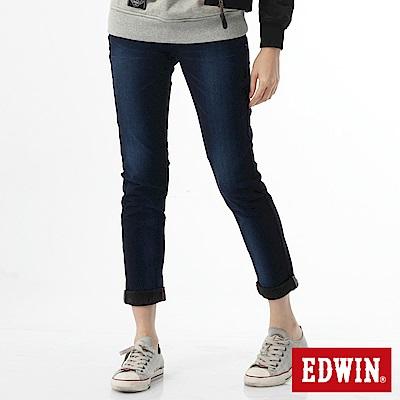 EDWIN AB褲 503JERSEYS迦績保溫褲-女-原藍磨