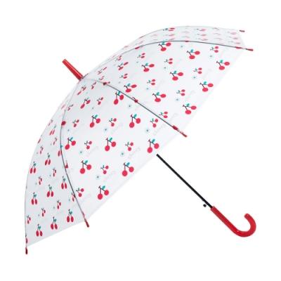 樂嫚妮 自動開直立雨傘-紅櫻桃