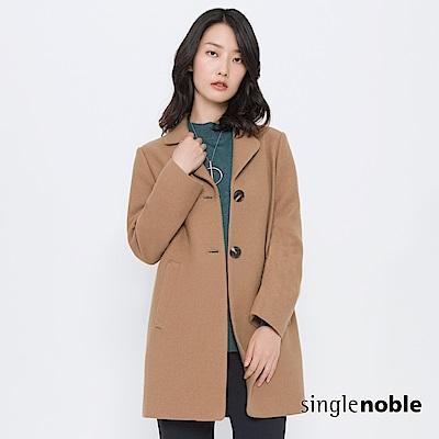 獨身貴族 俐落女紳雙釦翻領毛呢大衣(2色)