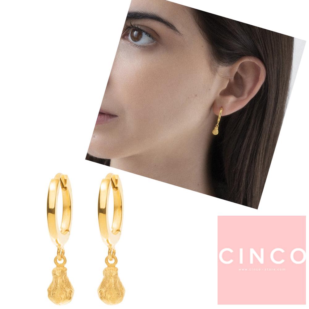 葡萄牙精品 CINCO Goldie earrings 24K金耳環 迷你金塊耳環