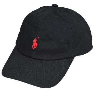 POLO RALPH LAUREN 品牌小馬刺繡LOGO棒球帽(黑)