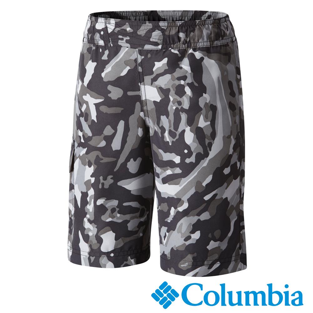 Columbia 哥倫比亞 童款-防曬30快乾海灘褲-黑迷彩 UAB46630