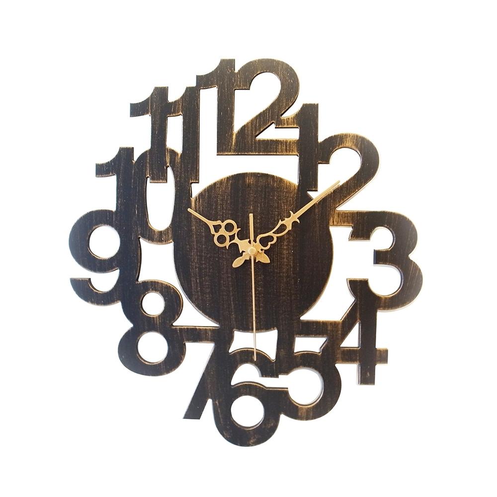 完美主義 數字設計款復古風掛鐘/時鐘/壁鐘/阿拉伯數字(2色)