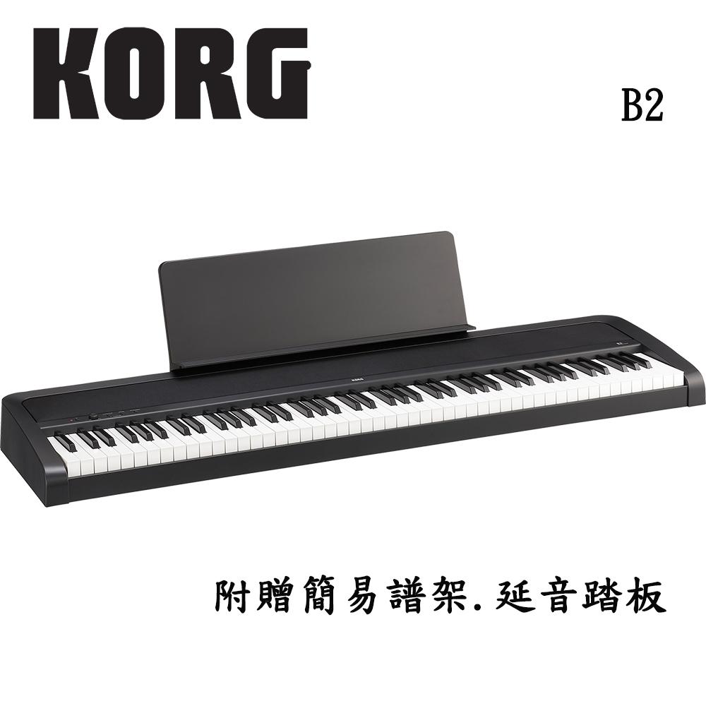 KORG B2 BK 88鍵數位電鋼琴 時尚黑色款