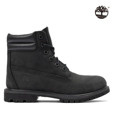 Timberland 女款黑色磨砂革經典防水6吋靴|A15QY