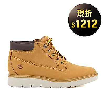 Timberland 女款小麥黃彈性支撐皮革低筒靴 | A1GO4231