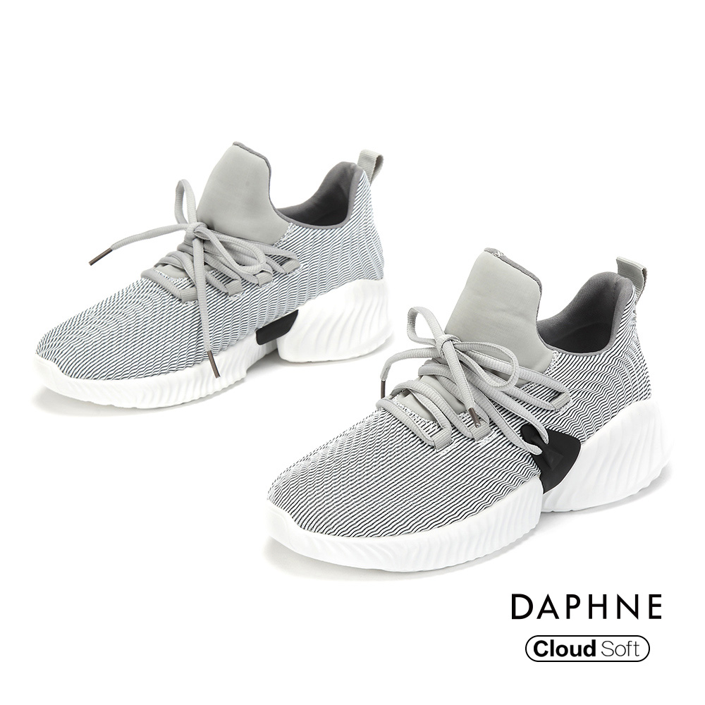 達芙妮DAPHNE 休閒鞋-輕盈率性綁帶潮流休閒鞋-灰色