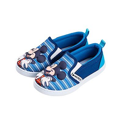 迪士尼童鞋 米奇 立體鞋面休閒便鞋-藍