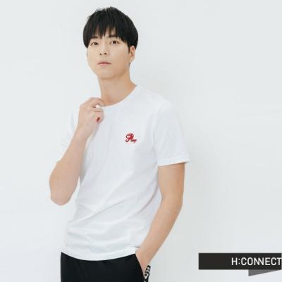 H:CONNECT 韓國品牌 男裝-棋盤格圖印T-shirt-白