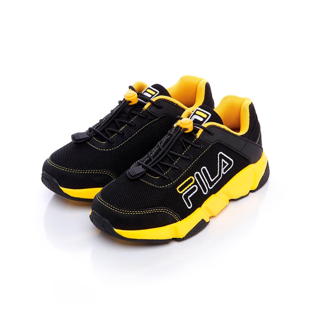 FILA KIDS #原宿篇 大童慢跑鞋-黑 3-J860S-009