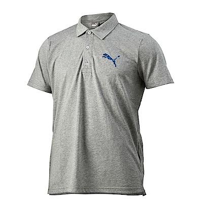 PUMA-男性BT系列大跳豹短袖Polo衫-中麻花灰-亞規