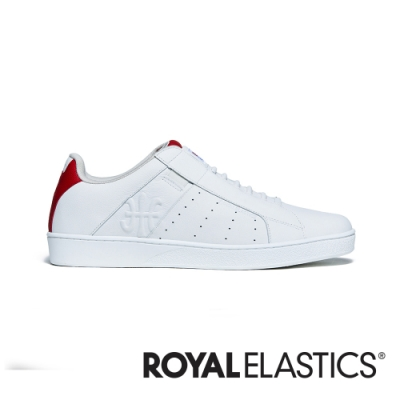 ROYAL ELASTICS Icon Genesis 白紅真皮運動休閒鞋 (男) 01902-001