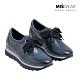 MARILA 牛皮緞帶休閒鞋-黑藍 product thumbnail 1