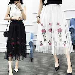 【韓國K.W.】追加款浪漫綻放美感裙-2色