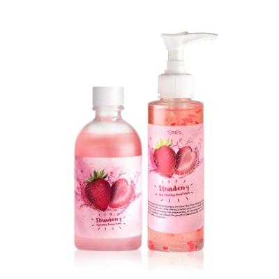 【歐恩伊】美莓保濕潔顏組-草莓保濕化妝水165ml+草莓潔面膠150ml