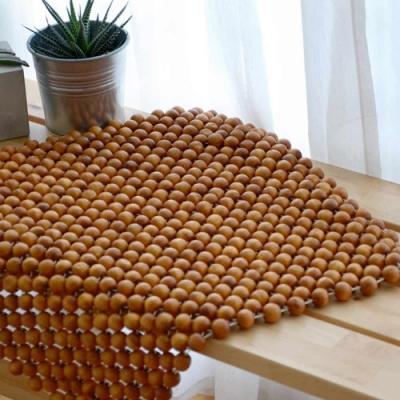 絲薇諾 檜木圓珠坐墊-單人座 45×45cm