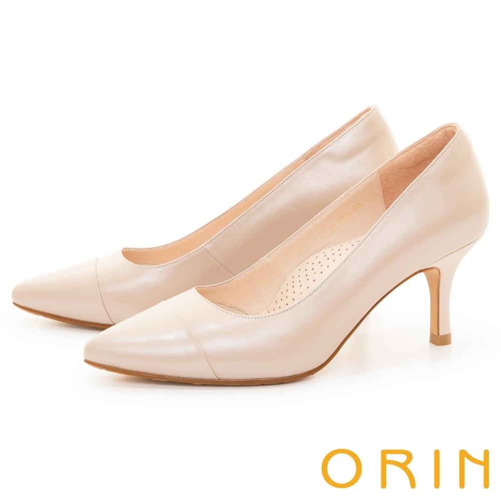 ORIN 典雅真皮尖頭 女 高跟鞋 裸色