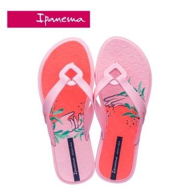 Ipanema NEXO PRINT菱格鏤空印花夾腳拖鞋-粉紅