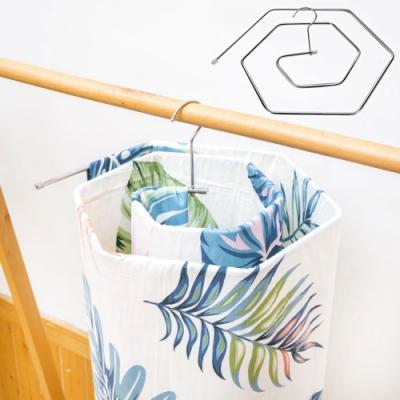 EZlife(2入)日式不鏽鋼螺旋曬床單被架(贈楓葉超纖抹布10入組)