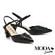 高跟鞋 MODA Luxury  優雅小時髦自然風編織尖頭高跟鞋-黑 product thumbnail 1