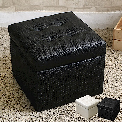 JP Kagu 日式時尚皮沙發椅收納椅-小(二色)