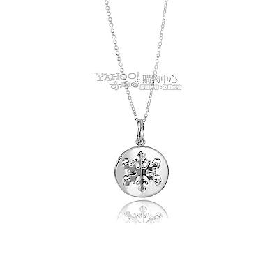 TIFFANY&Co. 圓形立體雪花925純銀項鍊