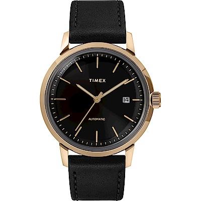 TIMEX 天美時 x Marlin 復刻系列 經典機械錶-黑/40mm